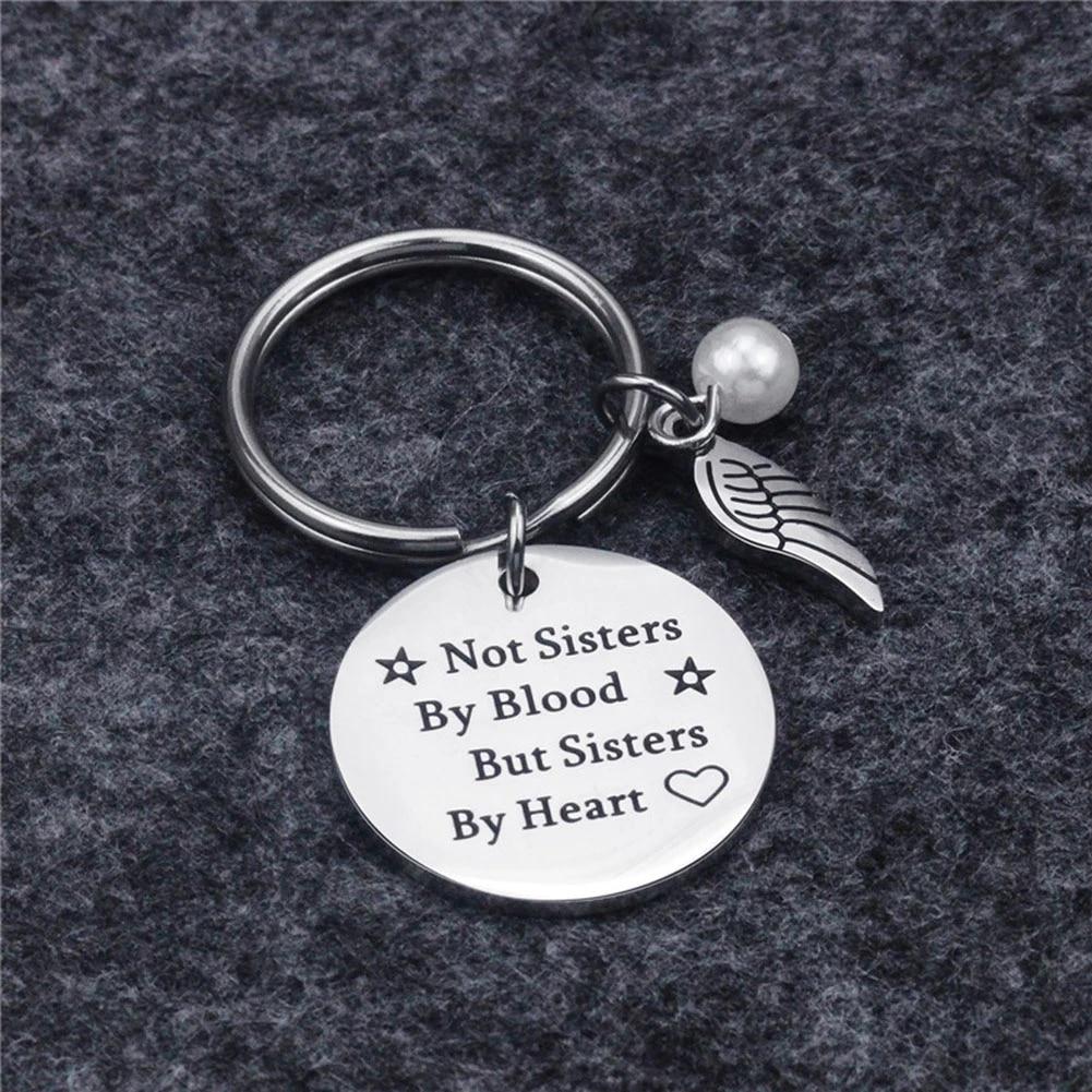 Best Friend Keychain Friend Jewelry Friendship Gift Ideas For Women Teens Girls Not Sisters By Blood But Sisters By Heart Key Chains Aliexpress