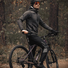 Pants Cycling-Jackets Sports-Suit Bicycle Santic Winter Fleece Windproof Autumn Men Warm-Up