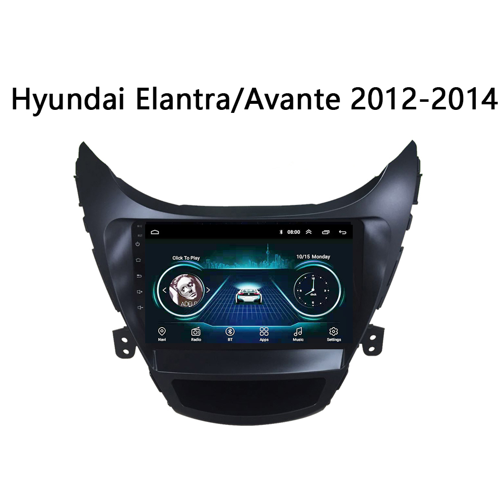 Car radio for <font><b>Hyundai</b></font> <font><b>Elantra</b></font> Avante Android 8.1 2011 2012 2013 <font><b>gps</b></font> 2014 9