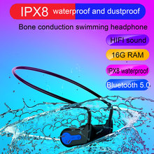 New IPX8 Waterproof Swimming MP3 Bluetooth MP3 Player Bone Conduction MP3 Player Outdoor Sport headphone MP3 Music Player w273 bluetooth mp3 real 8gb sport mp3 player w273 stereo headset wireless mp3 headphone walkman running mp3 player for sony