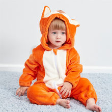 2019 Autumn Winter New Born Baby Clothes Unisex Halloween Clothes Boy Rompers Kids Panda Fox Costume For Girl Infant Jumpsuit(China)
