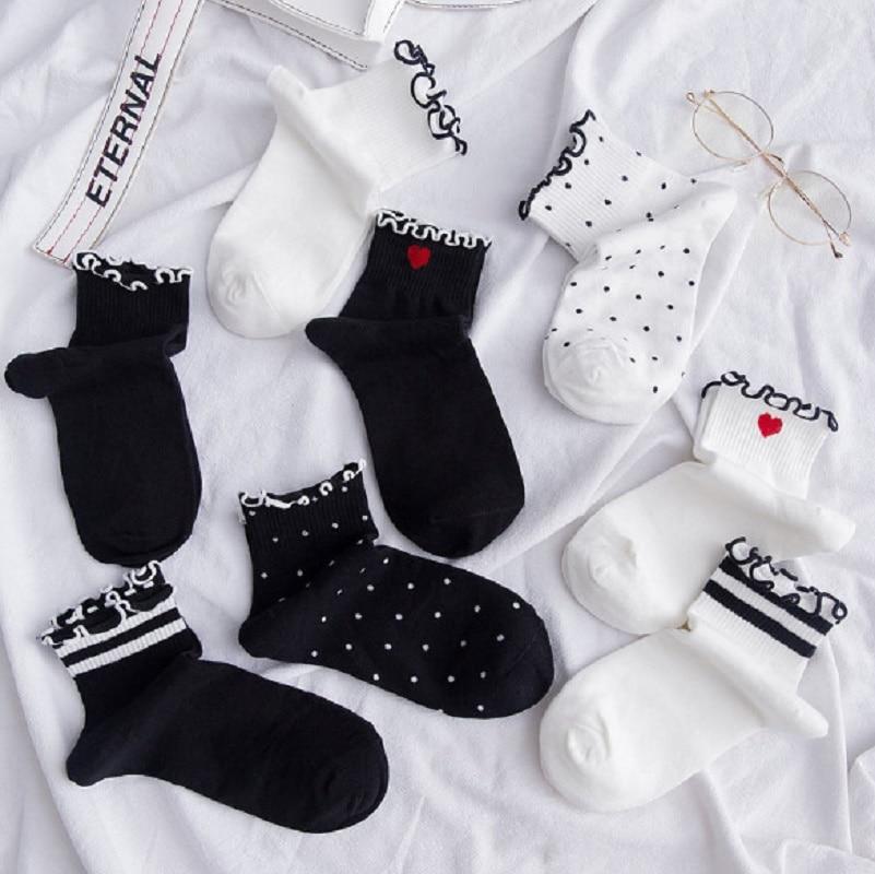 Japanese College Style Girl Socks Cute Socks Pile Socks Socks Dot Cotton Socks