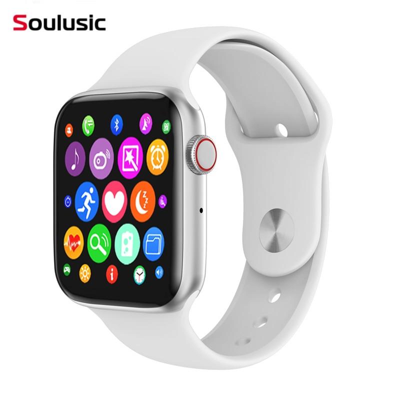 Tüketici Elektroniği'ten Akıllı Saatler'de Soulusic W34 yükseltme IWO 8 Lite arı kovanı Bluetooth çağrı akıllı saat ekg nabız monitörü Smartwatch Android IOS PK IWO 8 12 title=