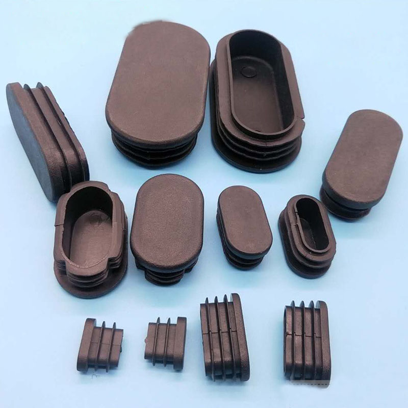 80PCS Black Oval Plastic Blanking End Cap Tube Plug Inserts Pipe Box Chair Desk Furniture Noise Proctor Mat Covers Accessories
