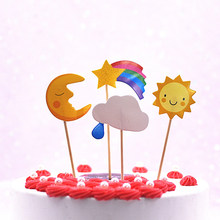 1Pcs Animal Paradise Thema Cake Scène Inbrengen Leeuw Olifant Giraffe Nijlpaard Aap Cake Vlag Decor Party Decoratie(China)