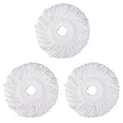 3 wymienny wkład do mopa z mikrogłowicą do 360 ° magiczny Mop obrotowy wymienna głowica mopa z mikrofibry okrągły kształt standardowy rozmiar (biały 3 P w Mopy od Dom i ogród na