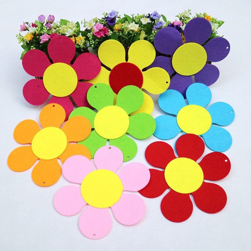 200pcs Mini petals Applique Felt Sewing Patches Kid/'s Doll Handwork Craft 15mm