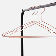 5Pcs/Set Simple Rose Golden Hangers Quality Aluminum Seamless Anti-slip Drying Rack Creative Practical Wardrobe Storage Hanger