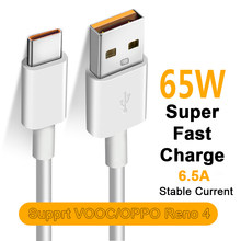 Baixin Fast Charging Type-C Cable for OPPO Realme X50m X50t V5 X50 X3 X5 Pro 6.5A Quick Charge 3.0 65W Super VOOC USB C Cable C3