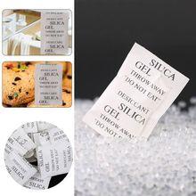 100 пакетов нетоксичный диоксид кремния гель осушитель упаковка влага поглотитель осушитель для кухни еды специй ювелирных изделий обуви