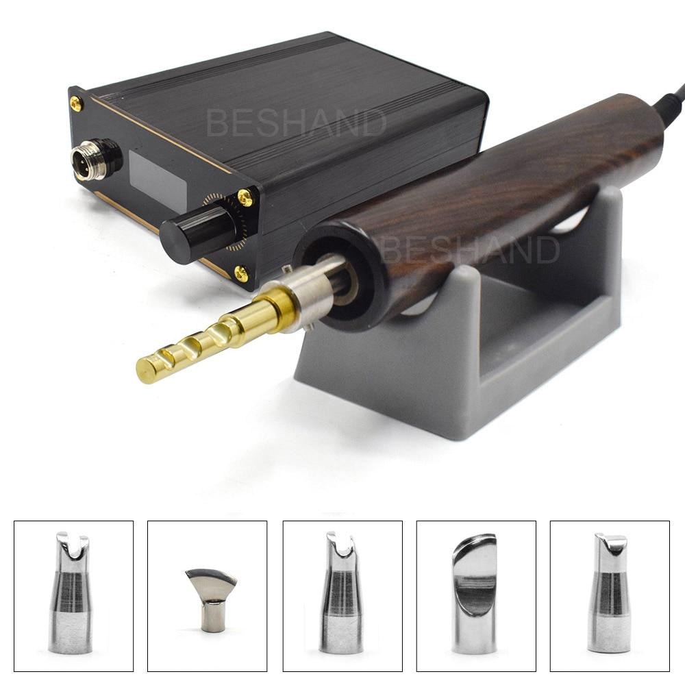 Electronic Hot Edge Creaser Machine 110V-220V Professional Leather Craft Tool Edge Creasing Scoring Hot Process Grooving Iron