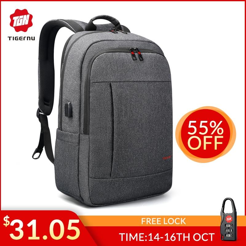 Tigernu Anti Thief USB Bagpack 15.6 To 17inch Laptop Backpack For Women Men School Bag Female Male Travel Mochila
