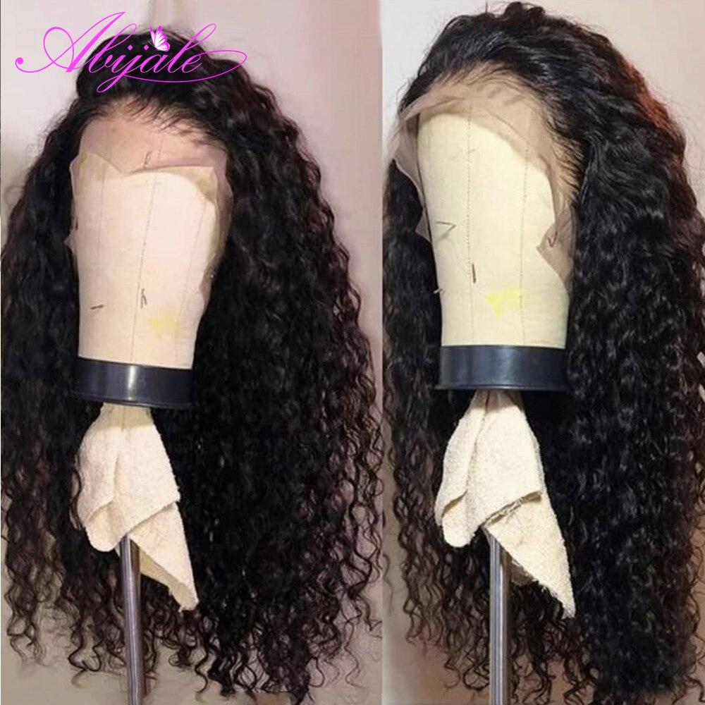 Парики из натуральных волос Abijale черные женские волнистые волосы с волнистыми