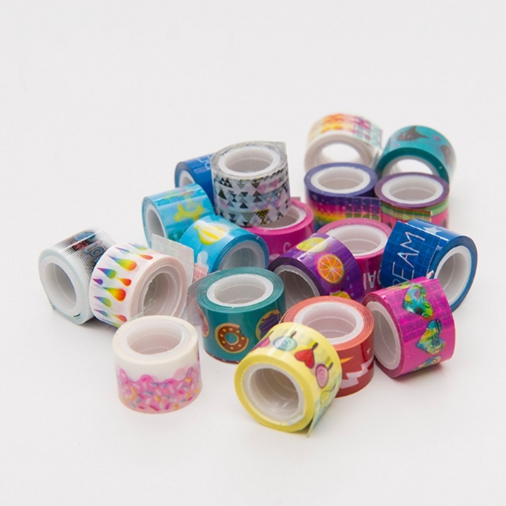 20pcs/lot 1.1cm*2m Mini Colorful Waterproof Painting Decorative Tape Scotch DIY Scrapbooking Sticker Label Masking Tapes(no Box)