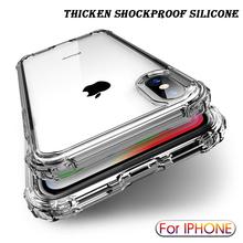 Luksusowe odporne na wstrząsy przezroczyste silikonowe etui do iPhone 11 Pro Max XR X XS miękka obudowa telefonu dla iphone 6 7 8 Plus 12 tylna okładka tanie tanio LYKL CN (pochodzenie) Aneks Skrzynki Urządzenia iPhone Apple Do telefonu iPhone 6 Iphone 6 plus IPHONE 6S Iphone 6 s plus