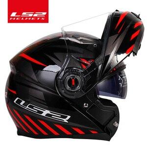 Image 2 - Casco capacete LS2 ff370 flip עד stomtrooper כביש אופני moto קסדת אופנוע עם שמש מגן עדשה