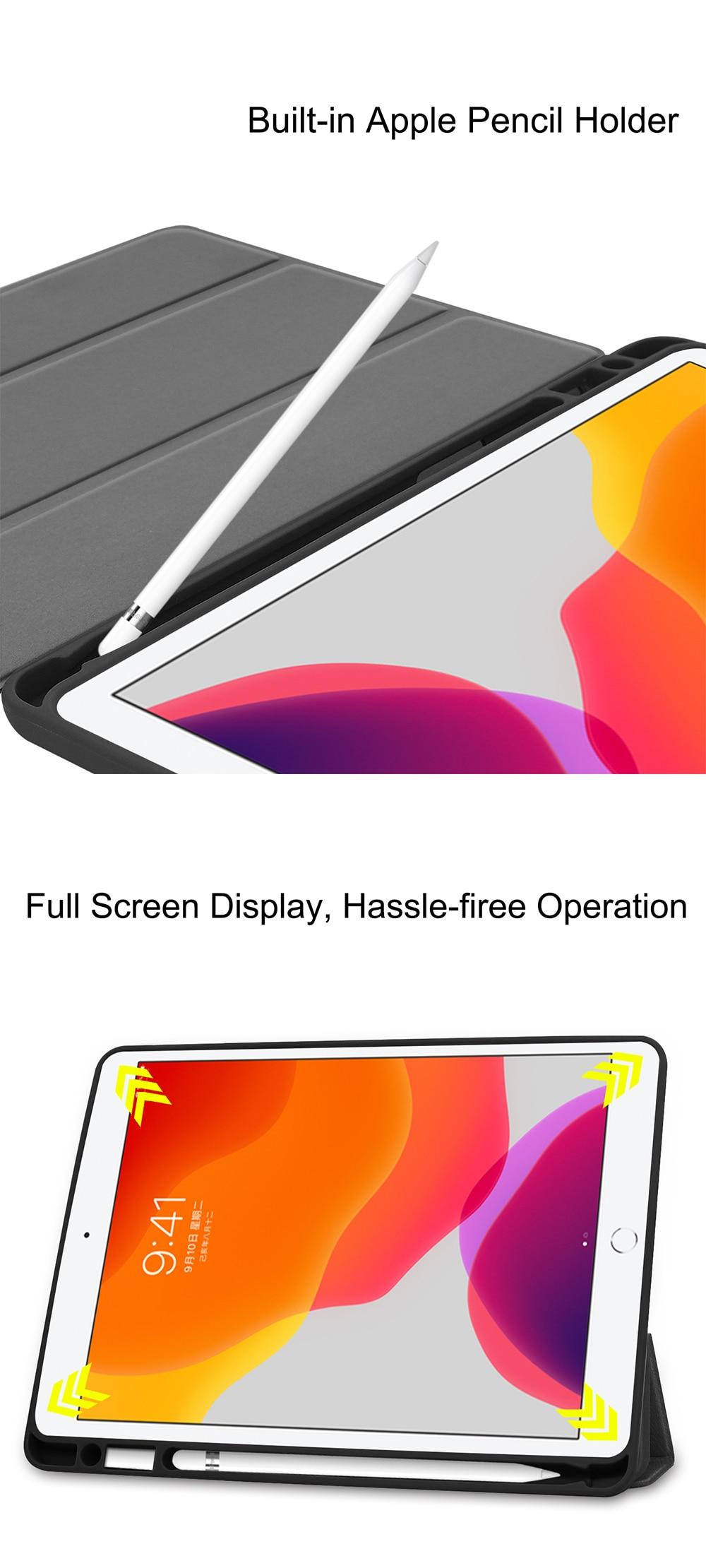 Generation Back 7th Smart TPU 2020 For 10.2 8th Leather Flip Case MTT PU iPad Tablet