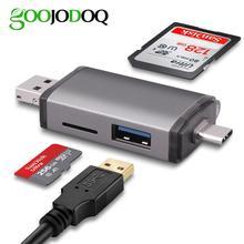 GOOJODOQ Kartenleser Micro USB 3,0 Typ C zu SD Micro SD TF Adapter Zubehör OTG Kartenleser Smart Memory SD kartenleser