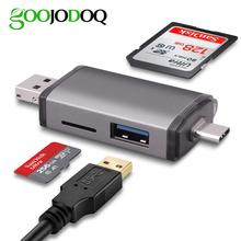 GOOJODOQ כרטיס קורא מיקרו USB 3.0 סוג C כדי SD מיקרו SD TF מתאם אביזרי OTG Cardreader החכם זיכרון SD כרטיס קורא