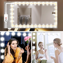 USB 5V Makeup Mirror Vanity LED Light strip/bulb  Inductive dimming Adjustable Lighted Make up Mirrors Cosmetic table lights