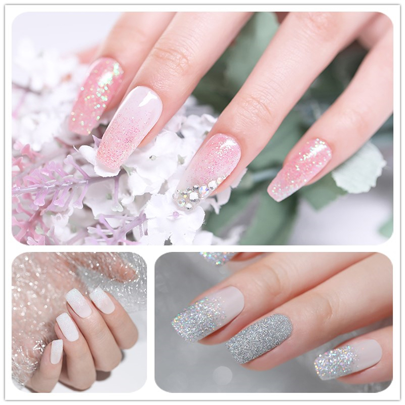 Image 2 - 6 Boxes Holographic Laser Nail Glitter Powder Gorgeous Chrome Nail Art Decorations Set For UV Gel Polish Manicure Pigment-in Nail Glitter from Beauty & Health