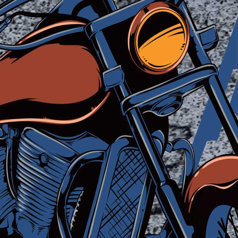 Pôster de parede 3d de grafite para motocicleta, crânio, pintura para parede, restaurante, café, bar, ktv, arte criativa, mural, plano de fundo, foto, papel de parede