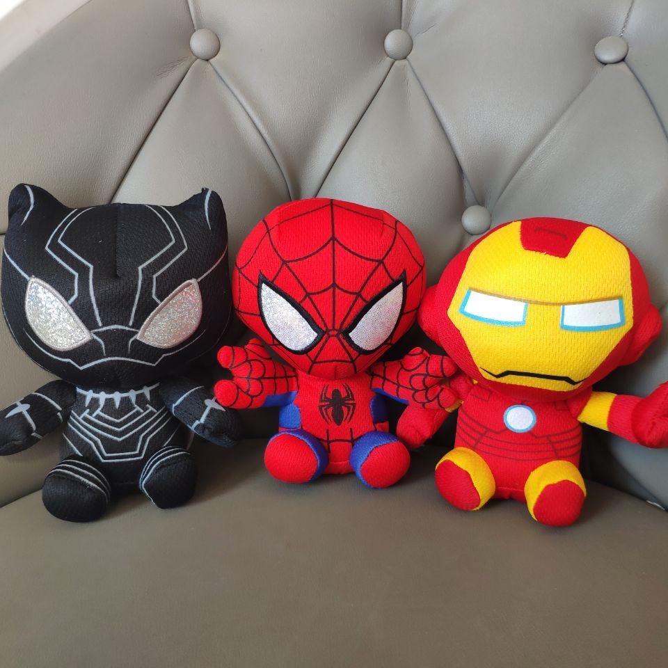 SPIDERMAN IRONMAN Black Panther  Plush Toys Stuffed Animals Nano Dolls The Avengers