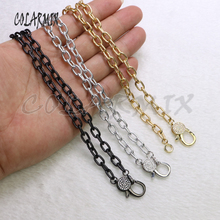 5 strands clasp necklace cubic zircon clasp lobster necklace mix colors crystal chain necklace for women fashion jewelry  7167