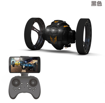 цена на RC Car Flexible Wheels Rotation LED Night Light RC Cars Bounce Robot 2.4G Jumping Car No Camera or with WIFI Camera 2.0mp 1:10