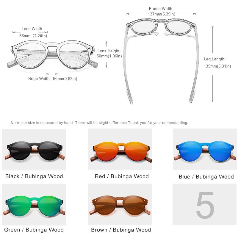 Custom LOGO Natural Wooden Sunglasses KINGSEVEN Bubinga Men's Polarized Glasses Wooden Fashion Sun Glasses Original Accessories 2