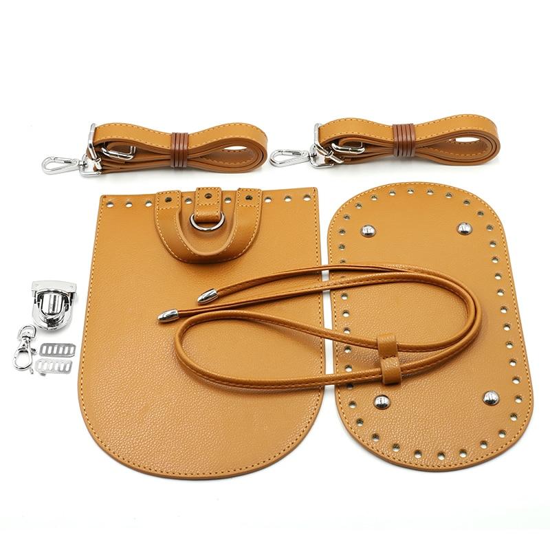 DIY Handmade Bag Accessories With Bag Bottom Flap Cover Shoulder Strap Bag Belt Hardware Parts For Women Backpack  #E