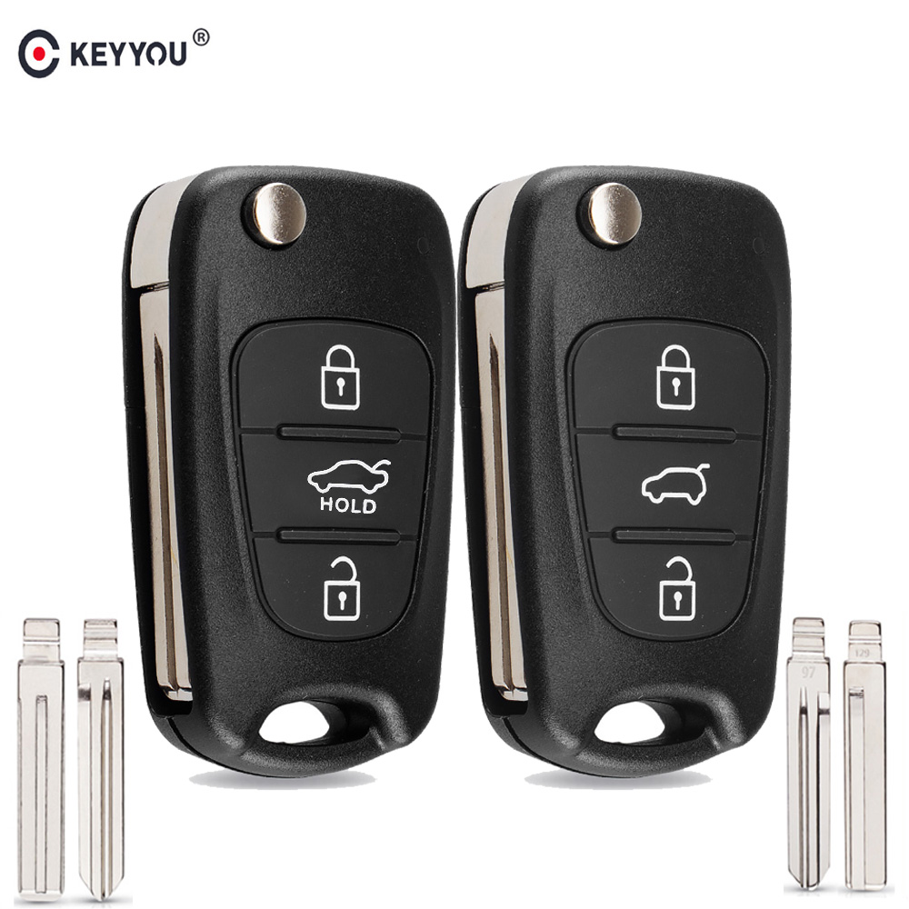 KEYYOU New Remote Key Shell For Hyundai I20 I30 IX35 I35 Accent Kia Picanto Sportage