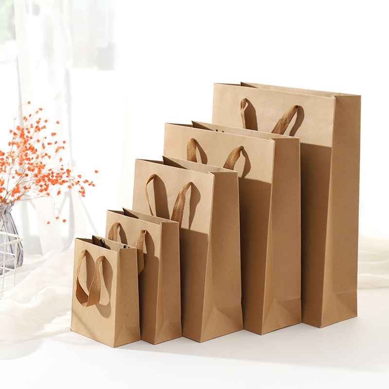 Kraft Paper Gift Bag Paper Package Birthday Festival Christmas Party Gift Bag Various Sizes 40x10x30cm image