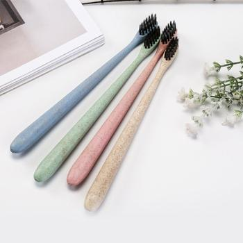 Oral Health Adult Soft Bristle Small Brush Head Bamboo Charcoal Toothbrush Eco-friendly material, healthy and safe for using. image