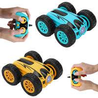3,7 in 2,4G 4CH RC Auto Drift Stunt doppelseitige Bounce Stunt Autos Rock Crawler Rolle Auto 360 grad Flip Kinder Roboter RC Auto Spielzeug