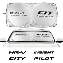 Pare-soleil de voiture pour Honda CITY dact, couverture de pare-brise pour véhicule, compatible avec LEGEND ODYSSEY PILOT RR TYPE R TYPE S VEZEL VTEC, accessoires