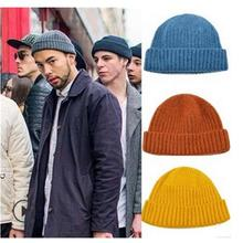 Мужская шерстяная шапка бини зимняя одноцветная вязаная теплая Один размер Спортивная уличная хип-хоп шапка с дизайном «арбуз» Женская шапка унисекс s 5