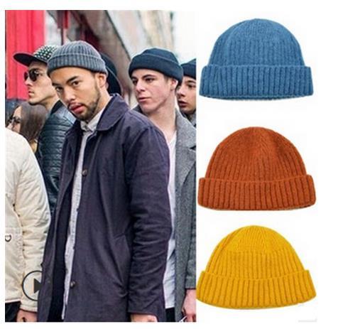 Man Wool Beanies Hat Winter Solid Color Knit Warm One Size Sports Outdoor Street Hip Hop Watermelon Cap Women Unisex Caps 5