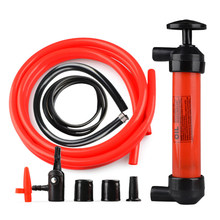 Portable Dual Purpose Fuel Transfer Pump Kit Fluid Hand Pump with Tubes Connectors Adapters for Gas Oil Liquids(China)