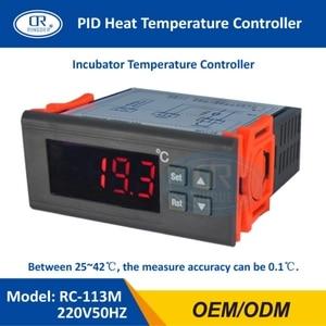 Image 1 - Ringder RC 113M 220v50hz 0.1c pid calor brotando regulador de incubação termostato digital controlador temperatura para laboratório incubadora
