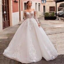Женское свадебное платье it's yiiya белое с длинными рукавами