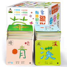 Flash-Card for 0-8-Years-Old Toddlers/children 8x8cm 1008-Pages 1--2 Pictographic Chinese-Characters