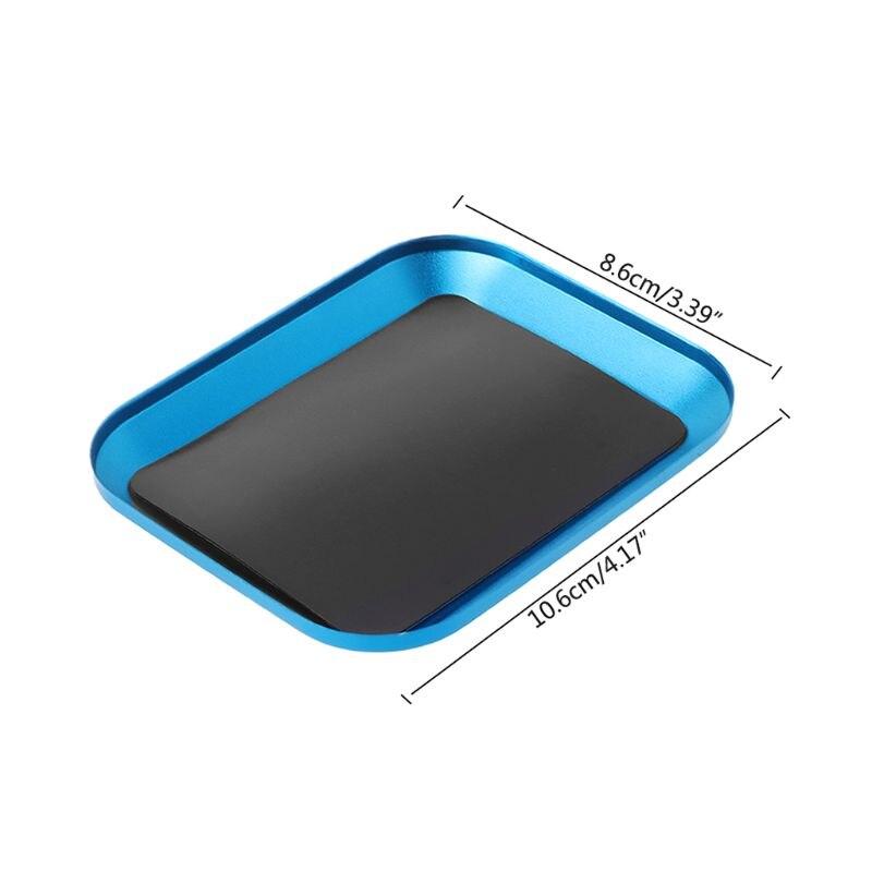 Aluminum Alloy Magnetic Nut Screw Tray For RC Phone Car Repair Tools Supplies