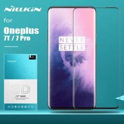 Dla Oneplus 7T 7 Pro 6T szkło Nillkin CP + Max pełna pokrywa 3D bezpieczne ochronne szkło hartowane na ekran do folii szklanej Oneplus 7T 7 Pro w Etui do ekranu telefonu od Telefony komórkowe i telekomunikacja na