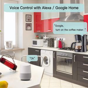 Image 4 - Умная Wi Fi полоса питания штепсельная вилка Великобритании с USB защитой от перенапряжения 4 розетки переменного тока дистанционное управление работа Alexa Google домашний помощник