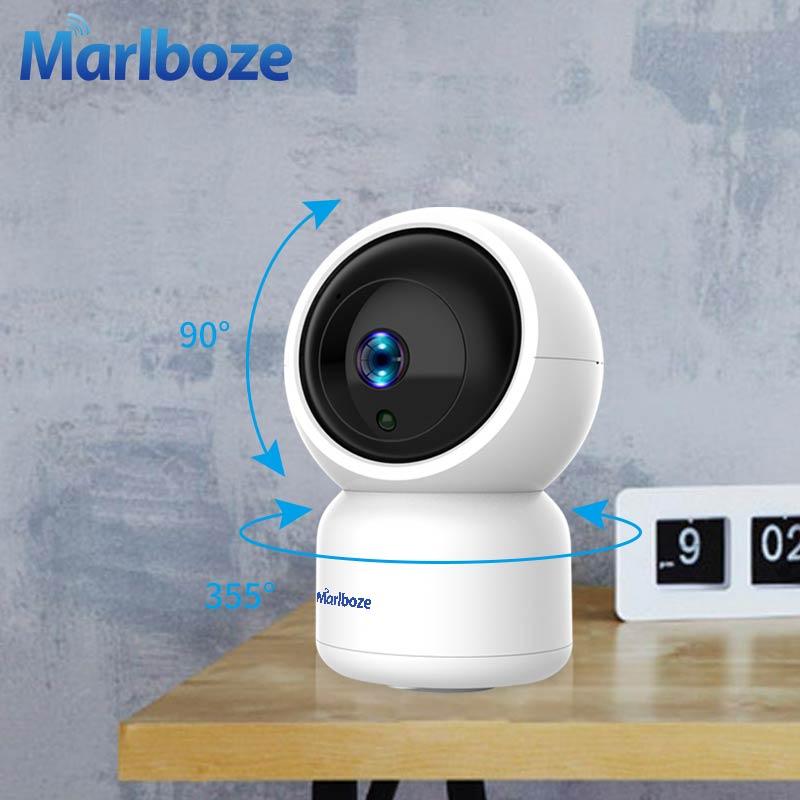 Marlboze 2 MP Auto Tracking Camera Motion Detection 1080P IP Camera Wifi Tf Card Cloud Record Wireless Network Home Camera