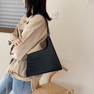 Image 3 - ワニのパターン女性のための 2020 の高級ハンドバッグ女性のバッグデザイナー pu レザーヴィンテージの女性のエレガントなトートバッグ