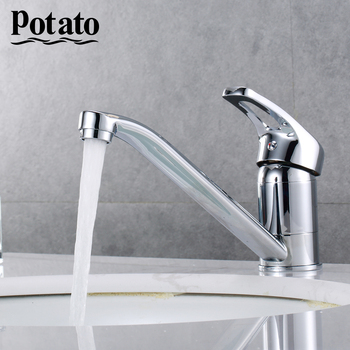 Potato Kitchen Faucet Kitchen Mixer Single Handle Mixer Water Tap Sink Faucet Mixer Tap Deck Mounted Kitchen Taps p4227 donyummyjo best quality wholesale and retail kitchen sink black water faucet 360 degree rotating deck mounted kitchen mixer taps