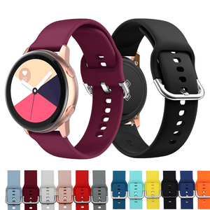 20mm Watch Strap for Samsung Galaxy Watch Active 2 3 41 Silicon Watch Band Bracelet Sport For Amazfit bip Belt Replacement Strap