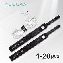 KUULAA Кабельный органайзер для телефона usb-шнур намотки наушников держатель шнур мышки протектор кабель питания управление HDMI Aux